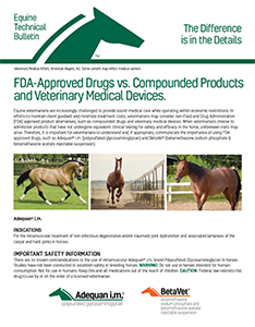FDA Approved vs Compounded Products Technical Bulletin icon